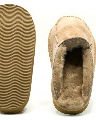 Slipper beige schapenvacht instappantoffel beige Texelse Schapenboet