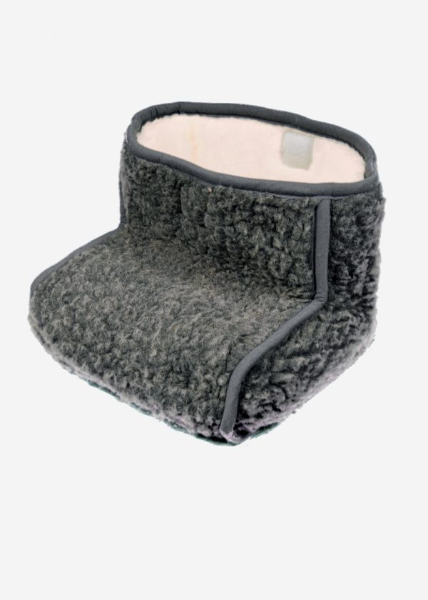 Voetenzak van puur schapenwol. Grijs, schapenwollen voetenwarmer