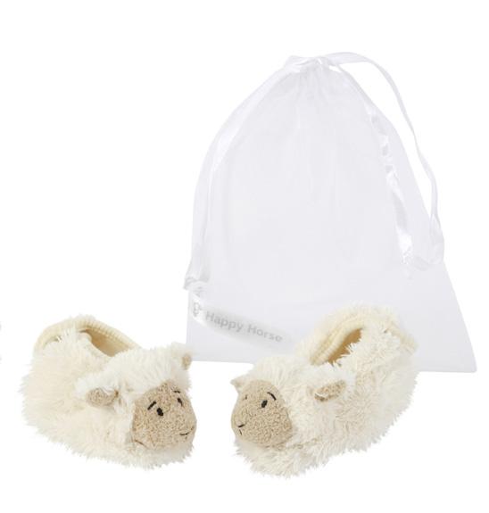 babyslofjes lammy ecru in organza giftbag