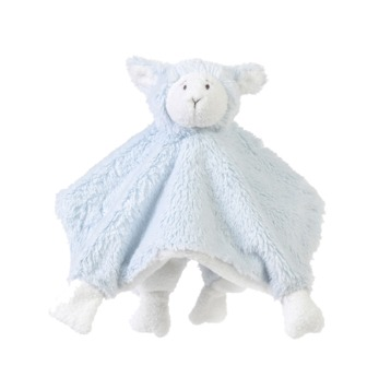 Knuffeldoekje Lammy blauw 24 cm Happy Horse Texelse Schapenboet