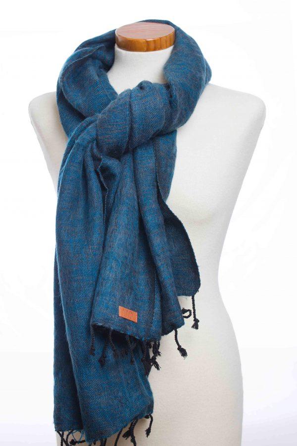 Puur Nepal sjaal donker blauw (dark blue plain)