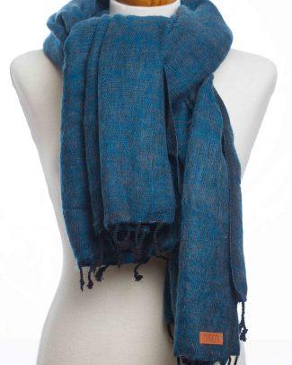 sjaal-omslagdoek donker blauw