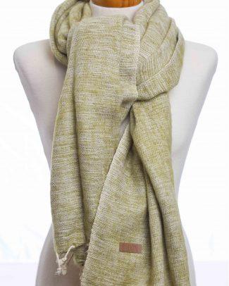 Green plain sjaal knoop (effen groen) Texelse Schapenboet