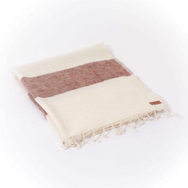 Puur Nepal sjaal-omslagdoek kastanje