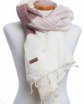 Puur Nepal sjaal - omslagdoekMaroon stripe