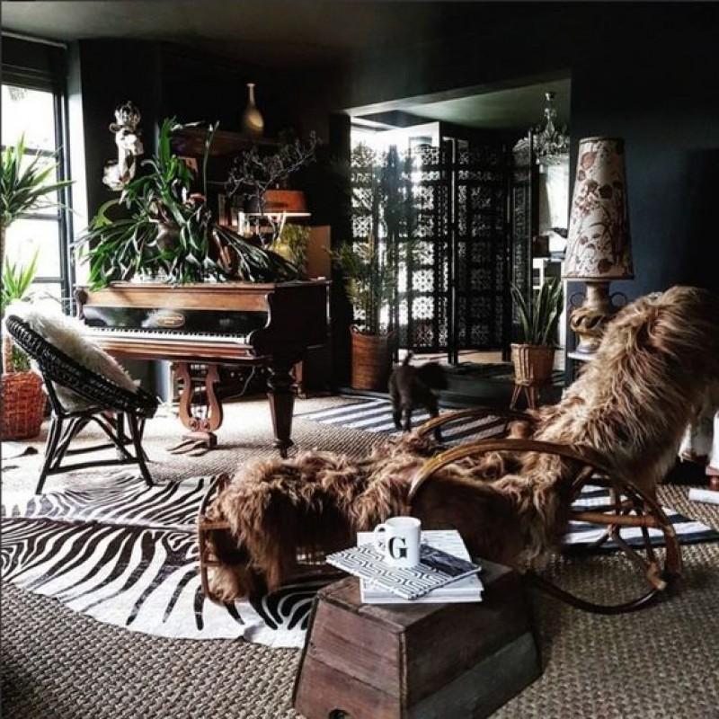 Schapenvacht sfeer in interieur gezellig bruin Texelse Schapenboet