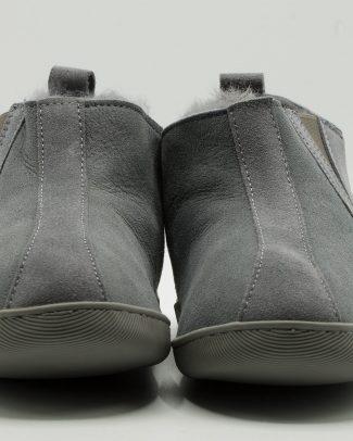 Texelse Schapenvacht pantoffels grijs stoer model Texelse Schapenboet